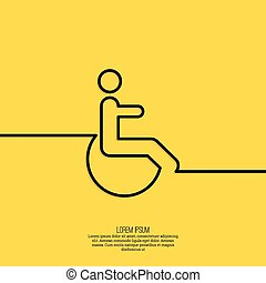 Symbol man on the wheelchair