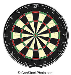 Dart Board - Isolated - Dart board isolated on a white...