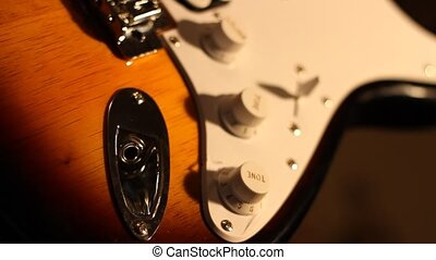 Plug In Electric Guitar - Plug in the amplyfing cable jack...
