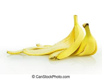 banana skin isolated on white background