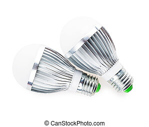 led lamp light bulb isolated on white background