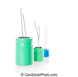 capacitor Isolated on white background