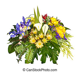 Floral Arrangement isolated with clipping path