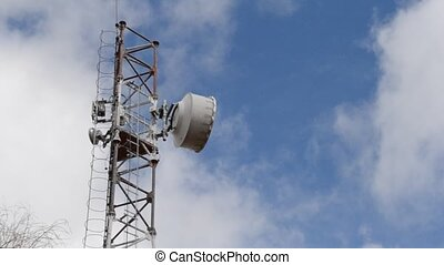 Rusted Telecomunication Antenna - Old rusted...