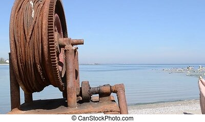 Rusted Fishing Boat Windlass - A rusty fishing boat...