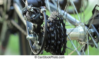 Rear Bicycle Gears - A set of rear sprockets also known as a...