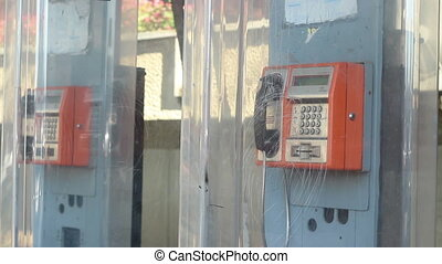 Public Phone Ringing - Someone is called on a public phone...