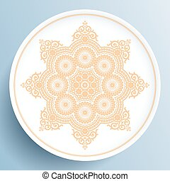 Plate with gold floral ornament