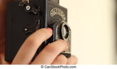 Shoot Photos on Old Camera - Shooting a series of photos on...