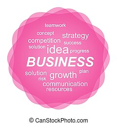 Business concept with tag cloud