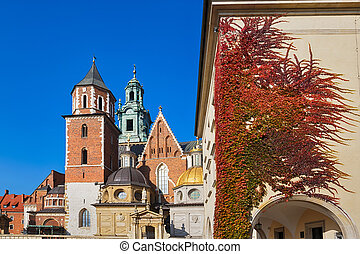 Royal palace in Wawel in Krakow, Poland