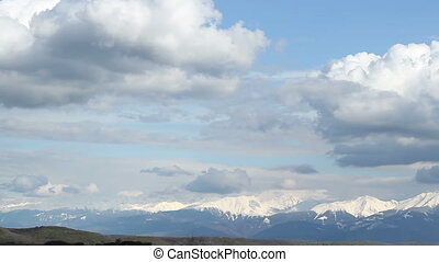 Snowy Mountains at Distance