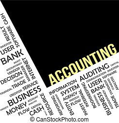 word cloud - accounting - A word cloud of accounting related...
