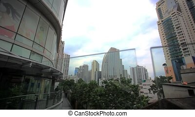 Bangkok Cityscape, Business district with high building. HD....