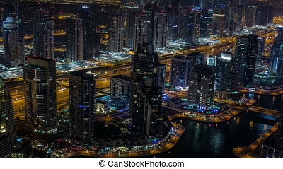 Sheikh Zayed Road with Dubai Marina