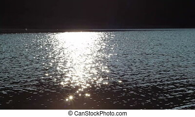 Sun Light Water Sparkles - Afternoon sun is reflecting in...