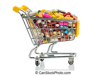 tablets with shopping cart photo icon for the purchase of...