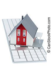 house on keyboard symbol picture for house purchase and...