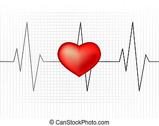 Heart rate monitor - Abstract vector illustration of a...