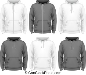 Men hoodie design templates. vector illustration