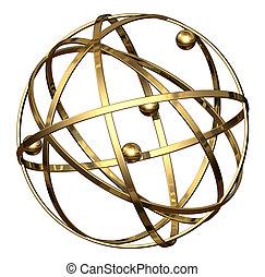 Award Globe - isolated - Award globe without the female...