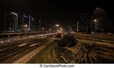 traffic jam on the Sheikh Zayed Rd