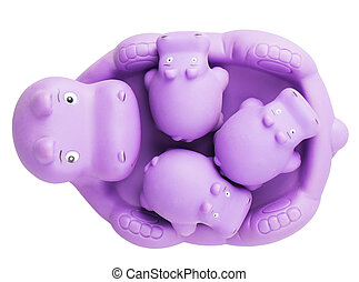 hippo toy Isolated on white background