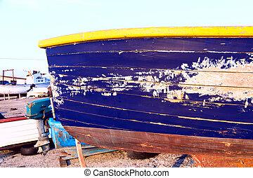 boat dock, sea sky blue