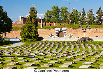 Small Fortress Theresienstadt with cemetery, Terezin, Czech...