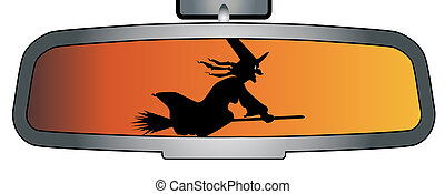Halloween Rear View Mirror