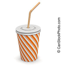 Disposable cup. Image with clipping path