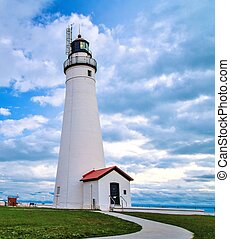 Great Lakes Lighthouse - The Fort Gratiot Lighthouse in Port...