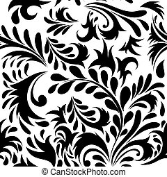 seamless floral background - Seamless vector floral...