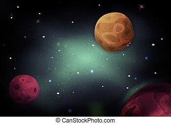 Scifi Space Background For Ui Game - Illustration of a...