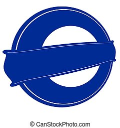 Blue round stamp