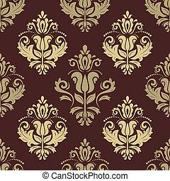 Damask Seamless Pattern. Orient Background - Damask floral...