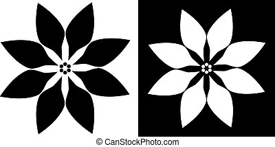 poinsettia icon vector illustration image scalable to any...