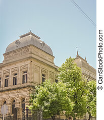 State Law School of Montevideo Perspective View - Low angle...