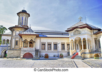 church - view of metropolitan church in Bucharest Romania