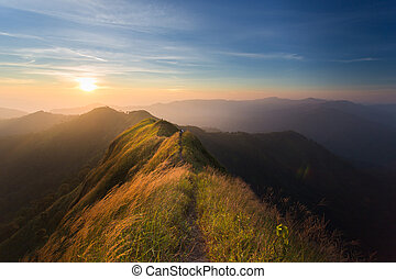 mountain - The way of climax Mountain slope have a way for...
