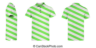 Green Polo Shirt With Stripes - A Green mens polo shirt...
