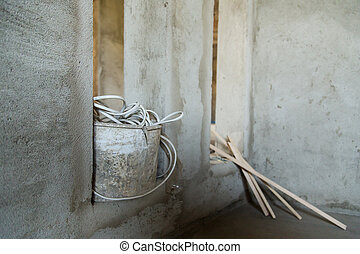 repair plaster wall wire