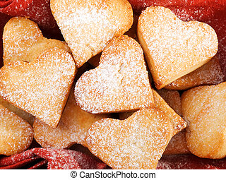 Heartshape Cookies - Handmade heartshape cookies
