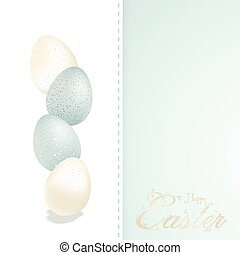 Easter blue and white speckled eggs