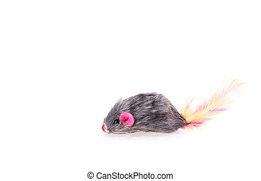 Mouse toy cat isolated on white background