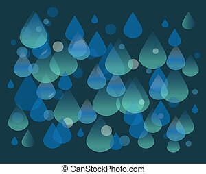 Waterdrops pattern - Hand drawn vector illustration or...