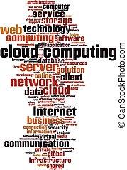 Cloud computing word cloud concept. Vector illustration