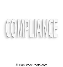 compliance - text on the wall or paper, compliance