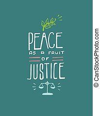 Peace as a fruit of Justice