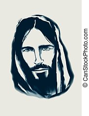 Jesus - Hand drawn vector illustration or drawing of a Jesus...